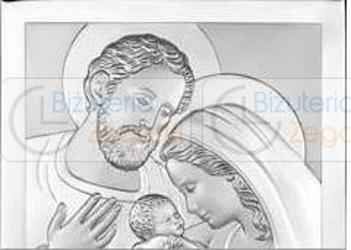 Obrazek BC64352X Święta Rodzina 12 x 12 cm.