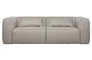 Woood sofa 3,5-osobowa bean z poduszkami jasnoszary 373387-g