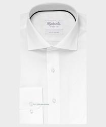 Extra długa biała koszula michaelis z kołnierzem włoskim 42