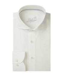 Męska biała koszula z bawełny z recyklingu oxford 37