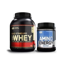 Optimum nutrition whey gold standard 2270 g amino energy 558 g