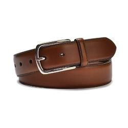 Elegancki jasno brązowy skórzany pasek męski do spodni 110