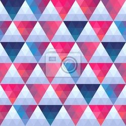 Naklejka bezszwowych tekstur z trójkątów, mozaika niekończącej wzór. że sq