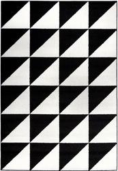 Dywan czarno-biały Square and Triangles