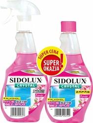 Sidolux Crystal, Flowers, płyn do mycia szyb, rozpylacz 500ml+zapas 500ml