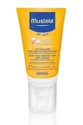 Mustela sun mleczko przeciwsłoneczne do twarzy bardzo wysoka ochrona spf50+ 40ml