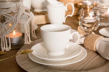 Zestaw kawowy dla 6 osób porcelana mariapaula ecru 18 elementów