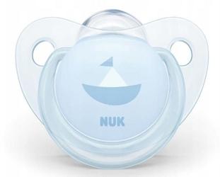 Nuk smoczek gryzak nr 1 baby blue silikonowy 0-6m-cy x 1szt.