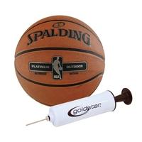 Piłka do koszykówki spalding nba platinum streetball outdoor do koszykówki + pompka