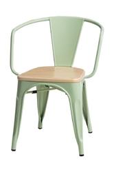 Krzesło paris arms wood sosna naturalna - zielony