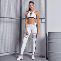 Zestaw fitness labellamafia fitness set white