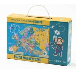 Puzzle magnetyczne maka kids - poznaje europę w walizeczce