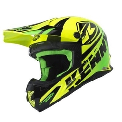 Kenny kask off-road track lime