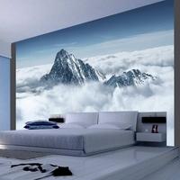 Fototapeta - górski szczyt w chmurach