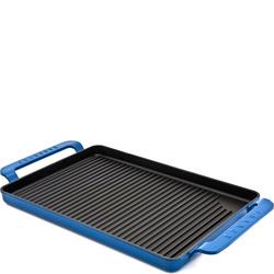 Taca grillowa żeliwna emaliowana Chasseur błękitna 3360-12