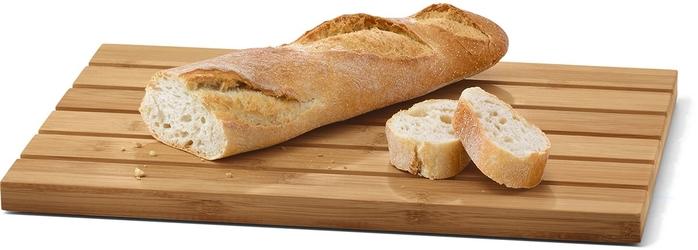 Bambusowa deska do chleba ze stalową tacą panas zack 20872