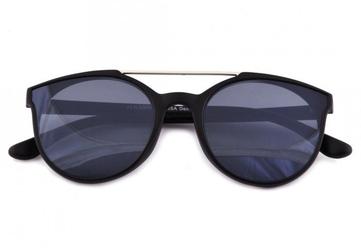Damskie okulary przeciwsłoneczne czarne hm-1624b