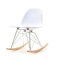 Krzesło bujane na taras tunis swing białe