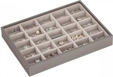 Szkatułka na biżuterię stackers 25 komorowa classic szaro-beżowa