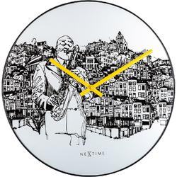 Zegar ścienny Sax City Nextime 40 cm 8192