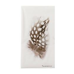Serwetki papierowe białe w piórka