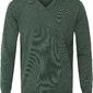 Sweter  pulower v-neck z wełny z merynosów zielony l
