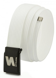 Pasek parciany biały stylion - st-35