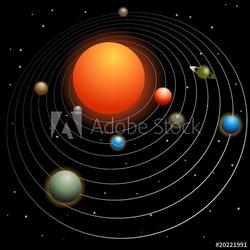 Obraz na płótnie canvas układ słoneczny
