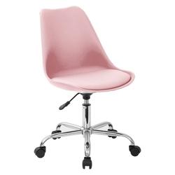 Fotel obrotowy biurowy krzesło biurowe obrotowe różowe