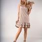 Luźna sukienka bez rękawów beżowa