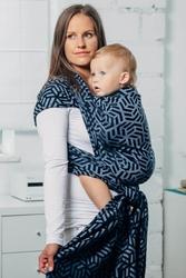 Kyanit moja druga chusta do noszenia dzieci, splot żakardowy 100 bawełna rozmiar m