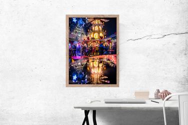 Wrocław Jarmark - plakat premium Wymiar do wyboru: 60x80 cm