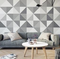 Geometryczna abstrakcja - tapeta designerska , rodzaj - tapeta flizelinowa laminowana