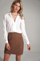 Trapezowa mini spódnica- brązowa