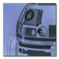 Star wars r2-d2 sketch - obraz na płótnie
