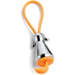 Brelok do kluczy srebrny pies i pomarańczowa zawieszka flick philippi p273043