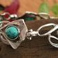 Capolinea - srebrna bransoletka z turkusem