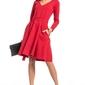 Czerwona rozkloszowana sukienka w szpic