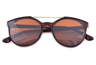Damskie okulary przeciwsłoneczne brązowe hm-1624a
