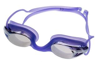 Okulary do pływania vivo b-0107 fioletowe lustrzane treningowe