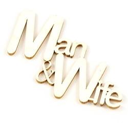 Napis ManWife - 5,5x4,5 cm