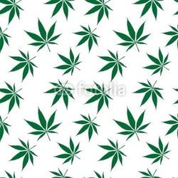 Obraz na płótnie canvas czteroczęściowy tetraptyk wzór marihuany przedłużony