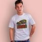 Exhausted t-shirt męski biały xxl
