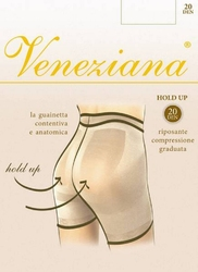Rajstopy veneziana  hold up 20 den rozmiar: 4-l, kolor: grafitowy, veneziana