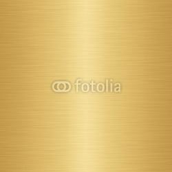 Plakat na papierze fotorealistycznym Ogromny arkusz tekstury metalu szczotkowanego złota