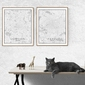 Paris mapa czarno biała - plakat wymiar do wyboru: 42x59,4 cm
