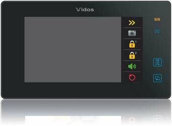 Monitor Wideodomofonu VIDOS DUO M1021B - Szybka dostawa lub możliwość odbioru w 39 miastach