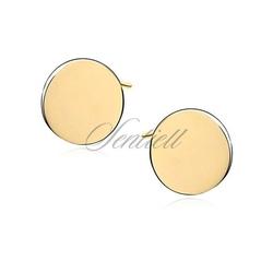 Srebrne kolczyki pr.925 pozłacane kółeczka - żółte złoto