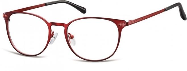 Oprawki damskie kocie oczy stalowe sunoptic 992f czerwone