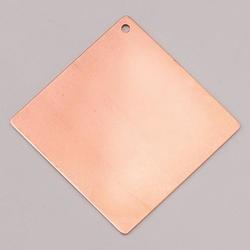 Metalowa zawieszka Efcolor - kwadratowy 55x55 mm - KW55